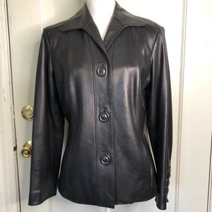 Preston & York Soft Lambskin Driving Coat Jacket M
